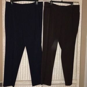 Women's Investments pants size 18R (2 pair)